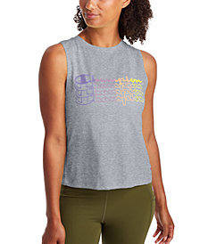 Champion Women's Double Dry Logo Tank Top