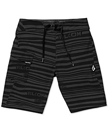 Big Boys Logo-Stripe Mod-Tech Boardshorts