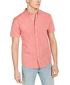 Men's Chambray Short-Sleeve Oxford Shirt