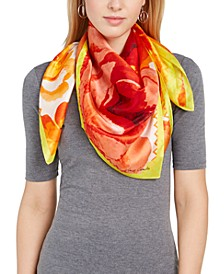 Spring Roses Silk Square Scarf