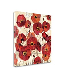 Bold Poppies by Silvia Vassileva Giclee Print on Gallery Wrap Canvas