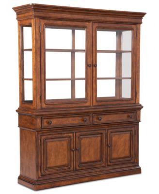 Mandara 2 Piece China Cabinet - Furniture - Macy's
