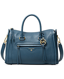 Michael Michael Kors Carine Medium Leather Satchel