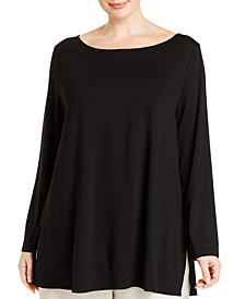 Eileen Fisher SYSTEM Plus Size Bateau-Neck Tunic