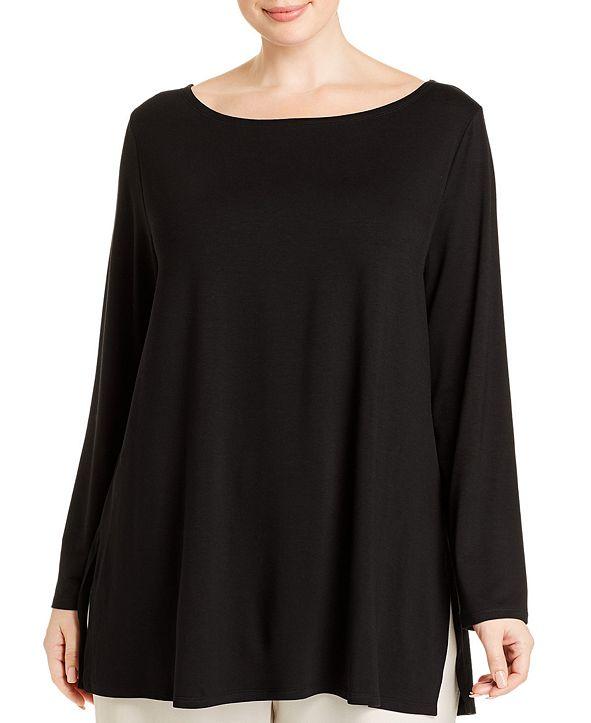 Eileen Fisher Plus Size Bateau-Neck Tunic