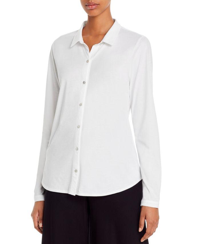 Eileen Fisher Organic Cotton Classic Shirt & Reviews - Tops - Women - Macy's