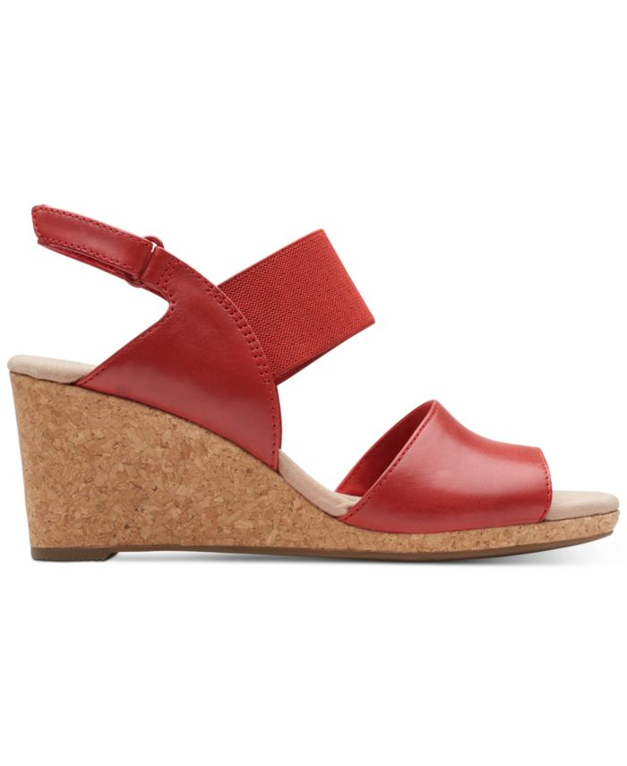 Clarks Collection Women's Laffely Lily Wedge Sandals & Reviews - Sandals - Shoes - Macy's