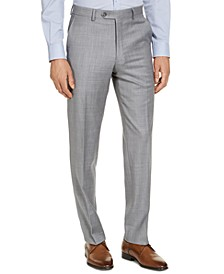 CLOSEOUT! Men's Classic-Fit Airsoft Stretch Grey Solid Suit Pants