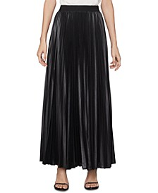 Dallin Sunburst Pleated Chiffon Maxi Skirt