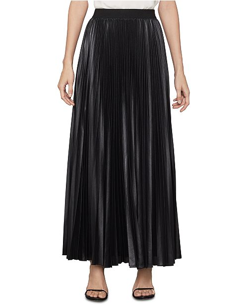 BCBGMAXAZRIA Dallin Sunburst Pleated Chiffon Maxi Skirt