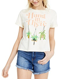 Juniors' Hang In There Graphic T-Shirt