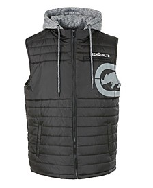 Men's Diamond Quilted Hooded Vest