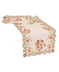 Primrose Embroidered Cutwork Table Runner