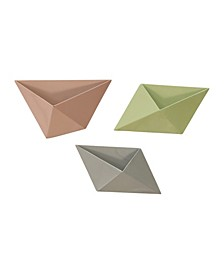 Stratton Home Decor Tricolor Modern Wall Planters, Set of 3