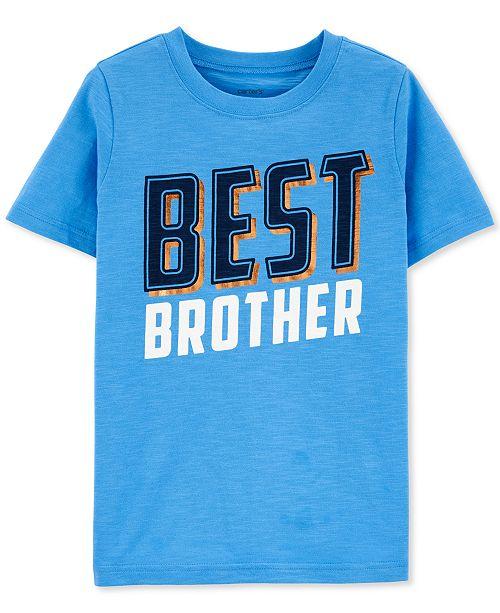 Carter's Little & Big Boys Best Brother-Print Cotton T-Shirt