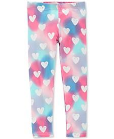 Toddler Girls Rainbow Heart-Print Leggings