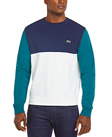 Men's Regular Fit Colorblock Mixed Piqué French Terry Sweatshirt