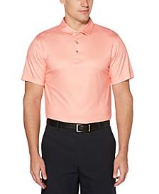 Men's Big & Tall Mini-Gingham Golf Polo