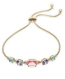 Multi-Crystal Slider Bracelet, Created for Macy's