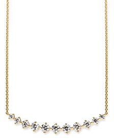 """18k Gold-Plated Crystal Collar Necklace, 17"""" + 1"""" extender, Created for Macy's"""