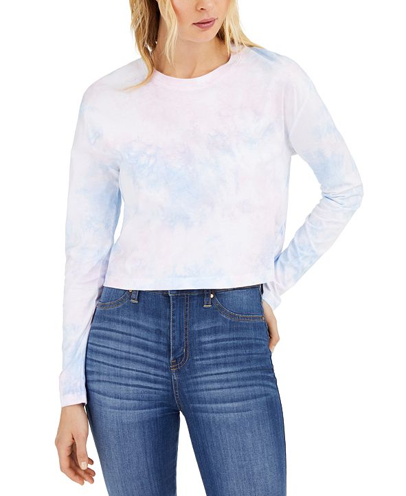 French Connection Cotton Tie-Dyed Top