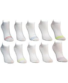 Women's 10-Pk. Toe-Stripe Low-Cut Socks