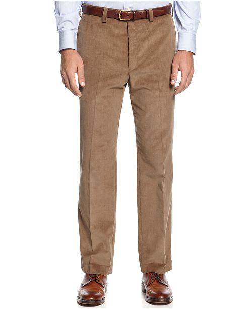 ccc66849a9e Lauren Ralph Lauren Classic-Fit Flat-Front Corduroy Pants   Reviews ...
