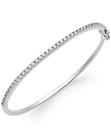 Sterling Silver Swarovski Cubic Zirconia Bangle Bracelet (1-3/4 ct. t.w.) (Also available in 14k Gold over Sterling Silver)