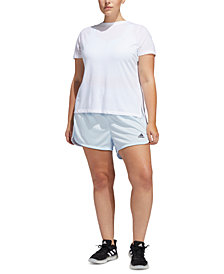 adidas Plus Size Striped Shorts