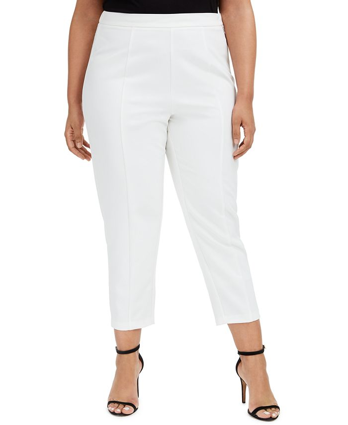 Adrianna Papell - Plus Size Cropped Straight-Leg Pants
