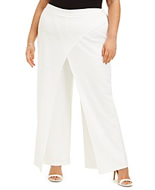 Plus Size Draped Dress Pants
