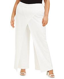 Adrianna Papell Plus Size Draped Dress Pants