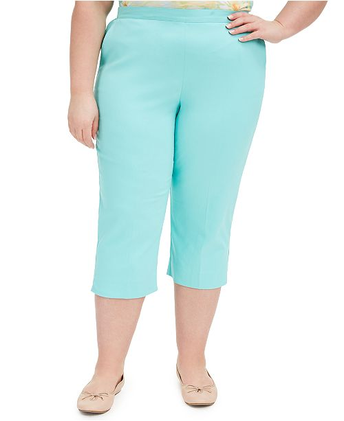 Alfred Dunner Plus Size Spring Lake Pull-On Capri Pants