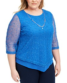 Plus Size Sea You There Mesh Top