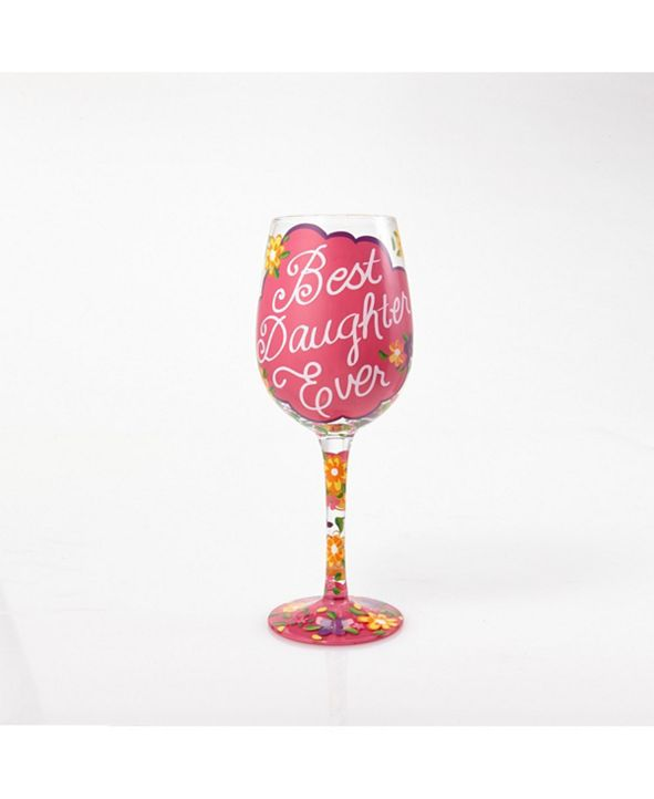 Enesco LOLITA Love My Daughter Wine Glass