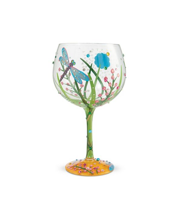 Enesco LOLITA Dragonfly Coupe Glass