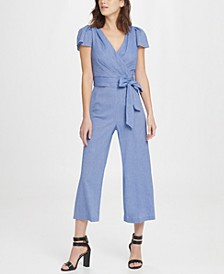 Double Ruffle V-Neck Jumpsuit
