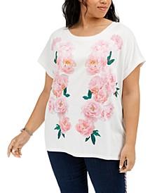 Plus Size Floral-Print T-Shirt