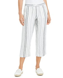 Petite Juniper Striped Cropped Pants, Created for Macy's