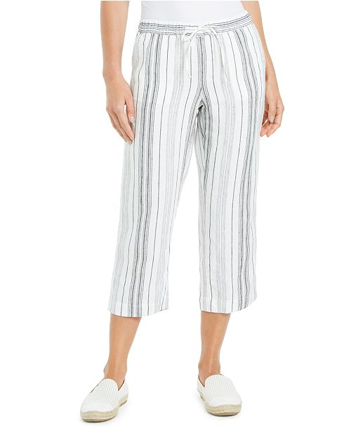 Charter Club Striped Pants, Created for Macy's