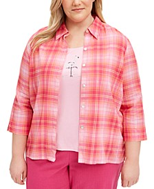Plus Size Laguna Beach Layered-Look Top