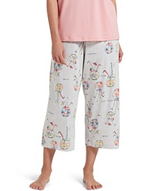 Fishbowl Cocktail Capri Women's Pajama Pant