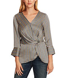 Geo-Print Side-Twist Top