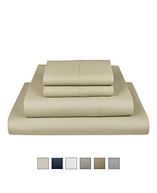 """Liberty 750 Thread Count Cotton Rich Wrinkle Resistant Twin Sheet 4-Piece Set, Fits Mattress Upto 17"""""""