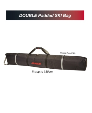 Athalon Double Ski Padded Bag In Black