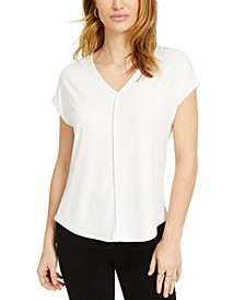 V-Neck Seamed T-Shirt, Created for Macy's