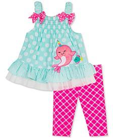 Baby Girls 2-Pc. Dot-Print Tunic & Plaid Leggings Set