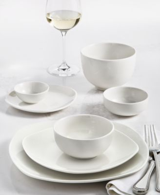 Inspiration by Denmark Soft Square 42 Pc. Dinnerware Set, Service for 6