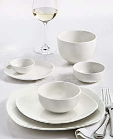 Tabletops Unlimited Whiteware 42-PC. Dinnerware Set, Service for 6, Created for Macy's