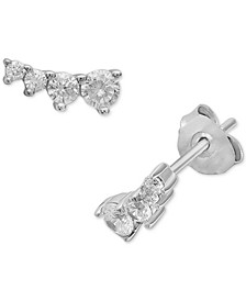 Cubic Zirconia Ear Climbers in Sterling Silver, Created for Macy's